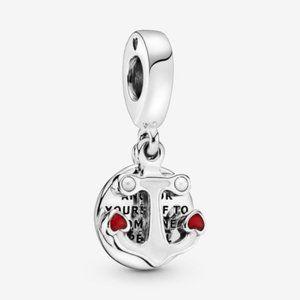 ▶Pandora Anchor and Hearts Dangle Charm